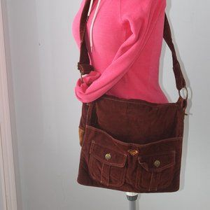 Roxy Corduroy Messenger, Laptop, Book Bag
